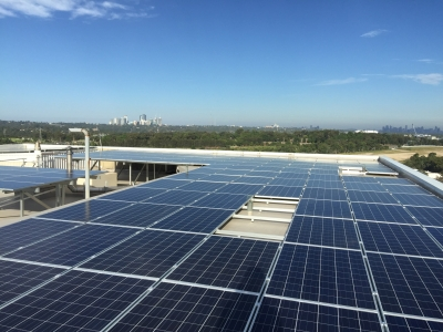 100kW Solar System installed in Macquarie Park, NSW.